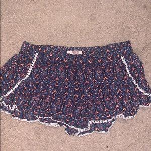 mossimo smocked waistband patterned